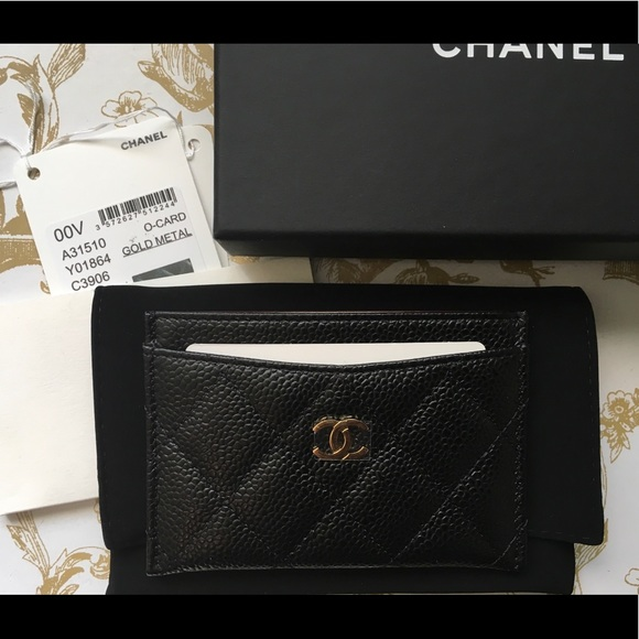c0db1d385c03 CHANEL Accessories | Bnwt Authentic Black Classic Card Holder | Poshmark